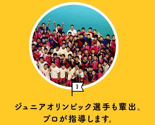 ジュニアオリンピック選手も輩出。プロが指導します。